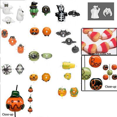 Halloween Lampwork Glass Beads  ~ Ghost, Bat, Spider, Pumpkin, Candy Corn & More