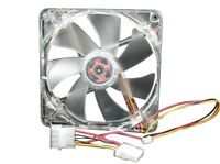 Yate Loon D12sl-124b 120mm Computer Fan, Clear Frame W/blue Leds