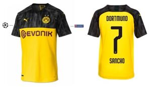 Trikot Borussia Dortmund 2019-2020 Champions League Sancho 7 BVB International