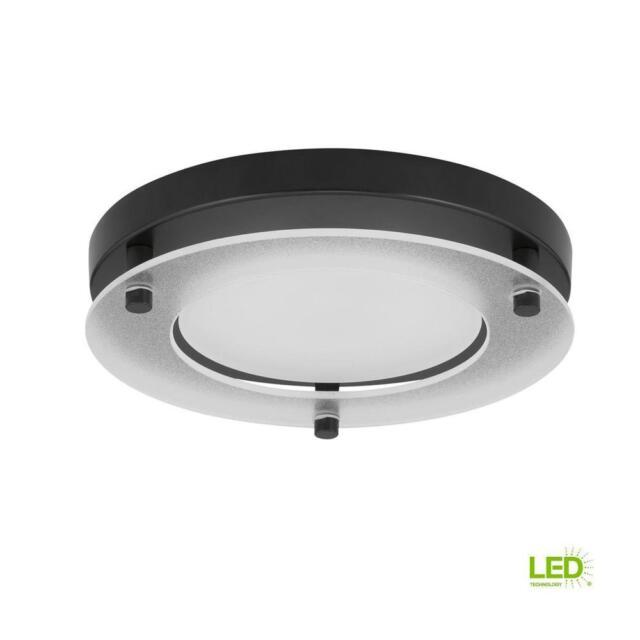 Progress P8147 3130k9 Series Led 8 Inch Black Flush Mount Ceiling Light Ebay