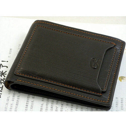 Hommes Business Portefeuille en Cuir Poche Porte-carte Pochette deux volets Slim Purse New