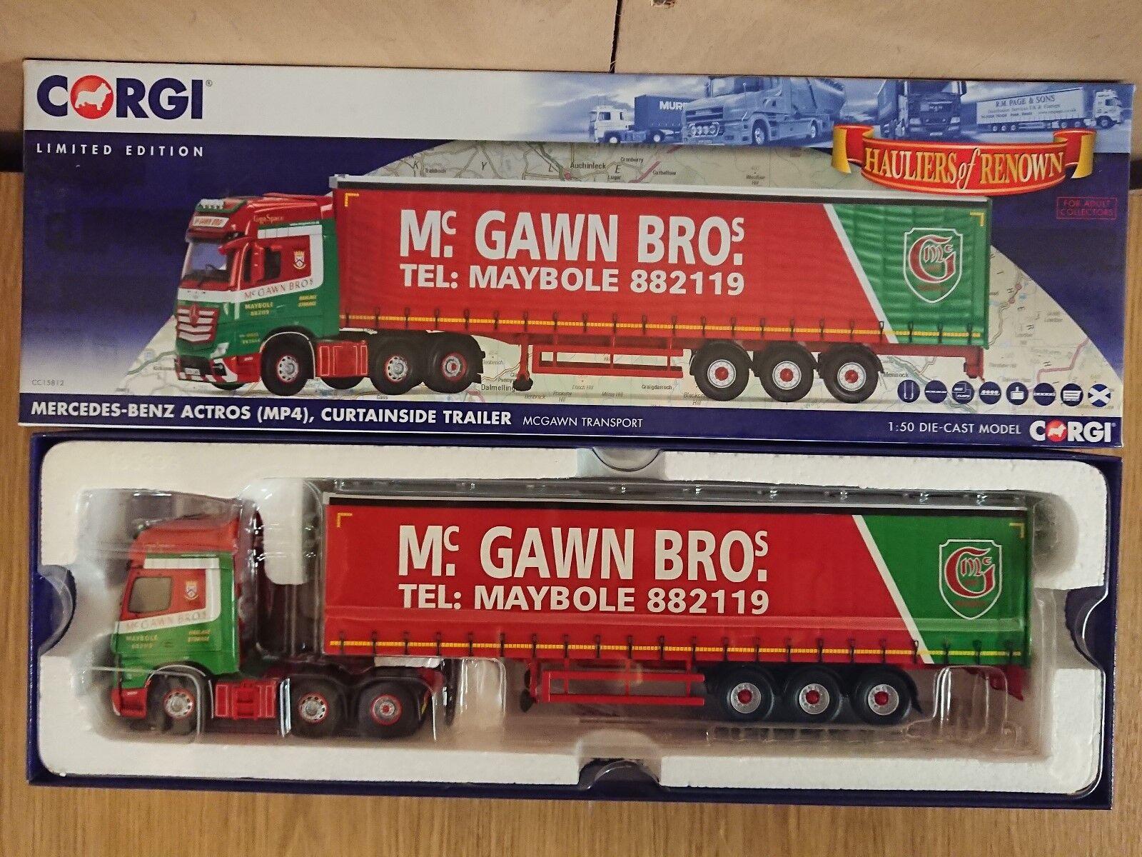 CORGI CC15812 MERCEDES ACTROS Curtainside mcgawn Bros. Ltd Ed. No 407 de 800