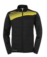 Uhlsport Kids Multi Sports Training Full Zip Jacket Top Junior Black Yellow