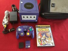 Indigo Nintendo GameCube Bundle + NM Controller, 2 Mem. Cards, GBA Player, Case!