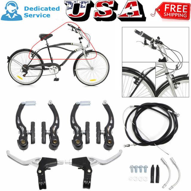 Lightweight Bike Brake Levers 3-Finger Bicycle V Brakes Handles Components Parts