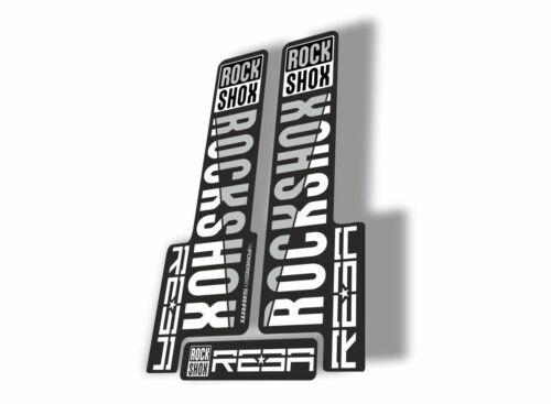 Rock Shox REBA 2018 Fork Decal Mountain Bike Cycling Sticker Adhesive White