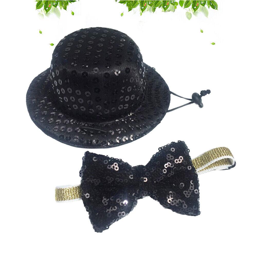 1 Hunde-Top-Hut und Krawatte Set Set süße Haustier-Gentlemanik-Katzen-Top-Hut