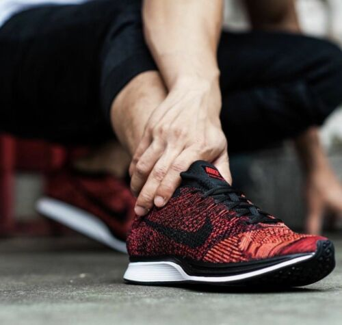 Sneaker 6 Flyknit Bnwbamp; Nike Racer Größe Rooster Authentic Uk Red Yvbf6g7y