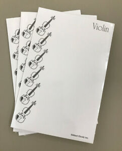 Violin-Writing-Tablet-Music-Stationery-Notepad-with-Violins-Lot-of-3