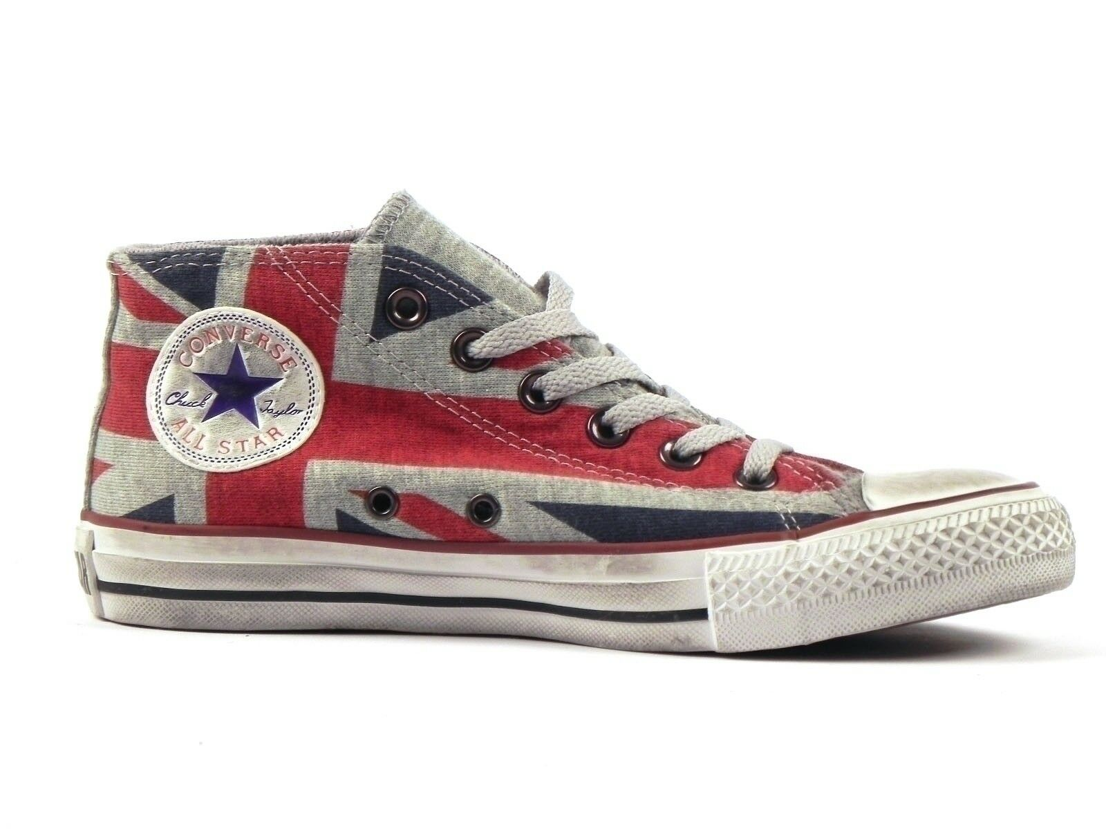 schuhe UNISEX CONVERSE INVERNO 135501C  CT CLEAR MID Blau/ROT/WEISS