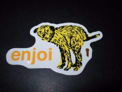 "ENJOI Skate Dog Poop #2 Sticker 3.5X2/"" great for skateboards helmets decal"