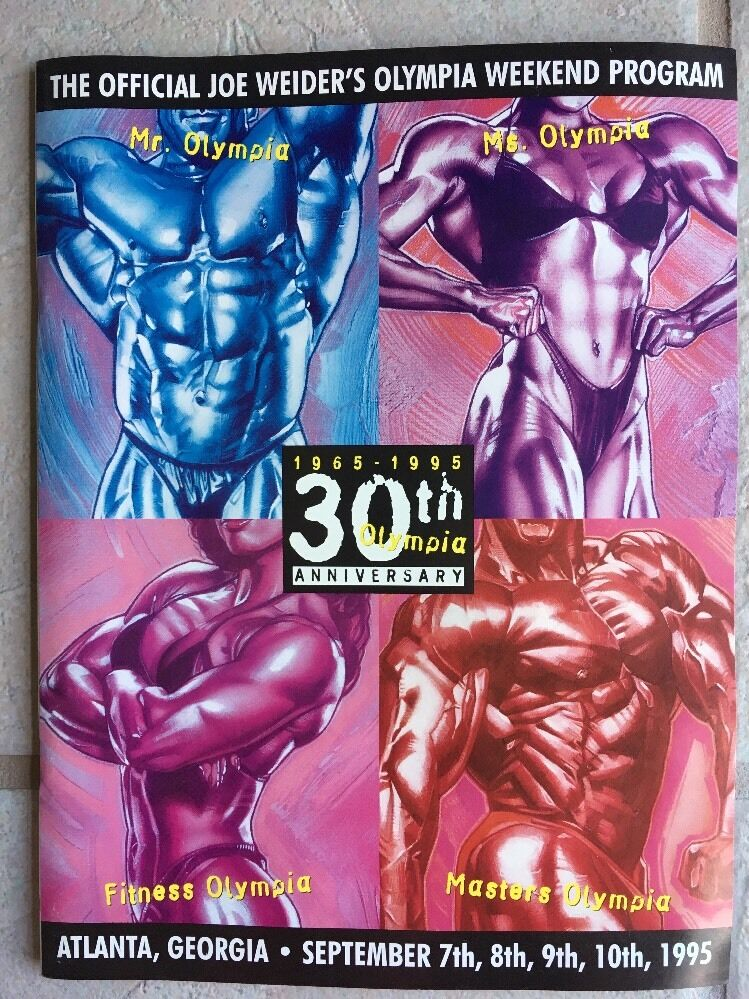 RARE 1995 Joe Weider IFBB Mr Ms Fitness Master Olympia Program 30th Anniversary