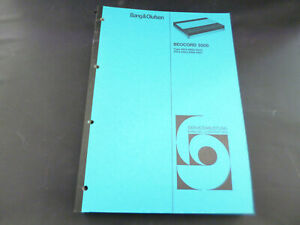 Original-Service-Manual-Bang-amp-Olufsen-Beocord-5000
