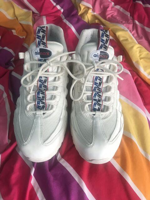 49c17b0bd4997 Nike Air Max 95 TT Pull Tab Size 10 Sail Gym Blue AJ1844 101 100 ...