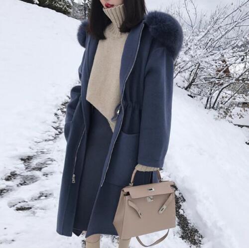 de épaisses Parka d'hiver de et laine chauds cachemire femmes en pour Mgic mélange Manteaux wvfIUq7