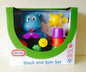 LAST-FEW-DAYS-LITTLE-TIKES-STACK-AND-SPIN-Bath-Toy-12-months-BNIB