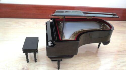 Mini Piano Model Wood Musical Instrument Toy Home Decor Elegant Gift Music Box