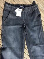 Cabi Jeans 10 Boot Cut Dark Wash Light Factory Fading 4 Pockets With Tags