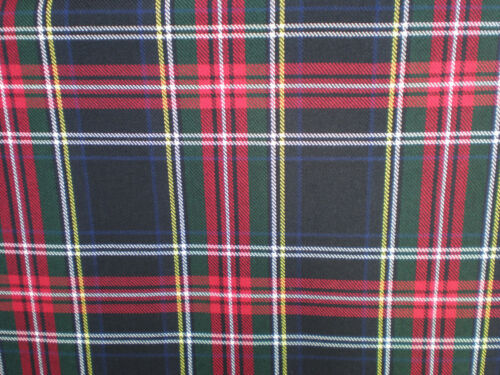 Tartan Fabric Red//Blue Sold by the Meter
