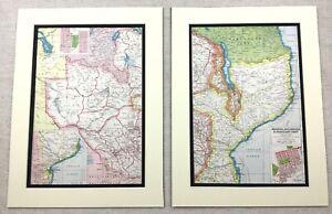 1920-Antique-Prints-Map-of-Rhodesia-Nyasaland-British-Protectorate-Africa