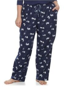 Details about Plus Size 1X Sonoma Pajamas Lounge Wear Flannel Pants Navy  Nordic Msrp$30