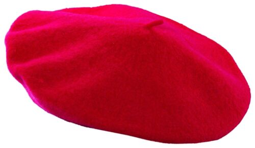 Berretto Francese Da Uomo Donna Piatti Cap Hat Unisex Costume Festa Costume Nero Rosso