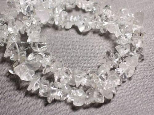 Cristal de Roche Quartz Grosses Rocaille Perles de Pierre Fil 89cm 204pc env