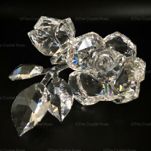 RARE-Retired-Swarovski-Crystal-Roses-890285-Mint-Boxed-Statement-Piece-Large