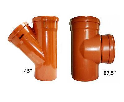 KG Abzweig 45°& 87°  DN 110, 125, 160, 200, 250, 315, 400, 500 KG Rohr-Formstück