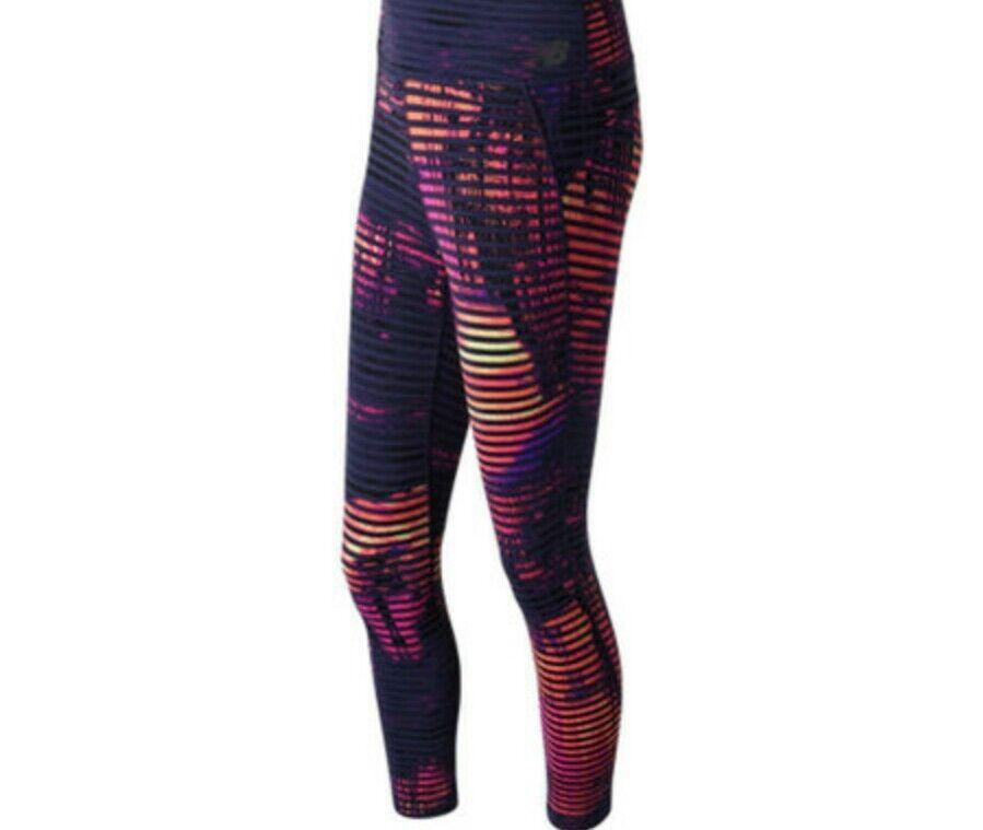 New Balance Yoga Pant WP71153  Women High Rise Transform Print Crop 3 4 MSRP