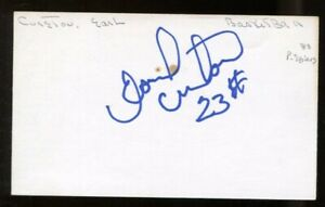 Earl Cureton Signed Index Card 3x5 Autographed '83 76ers '94 Rockets 56315
