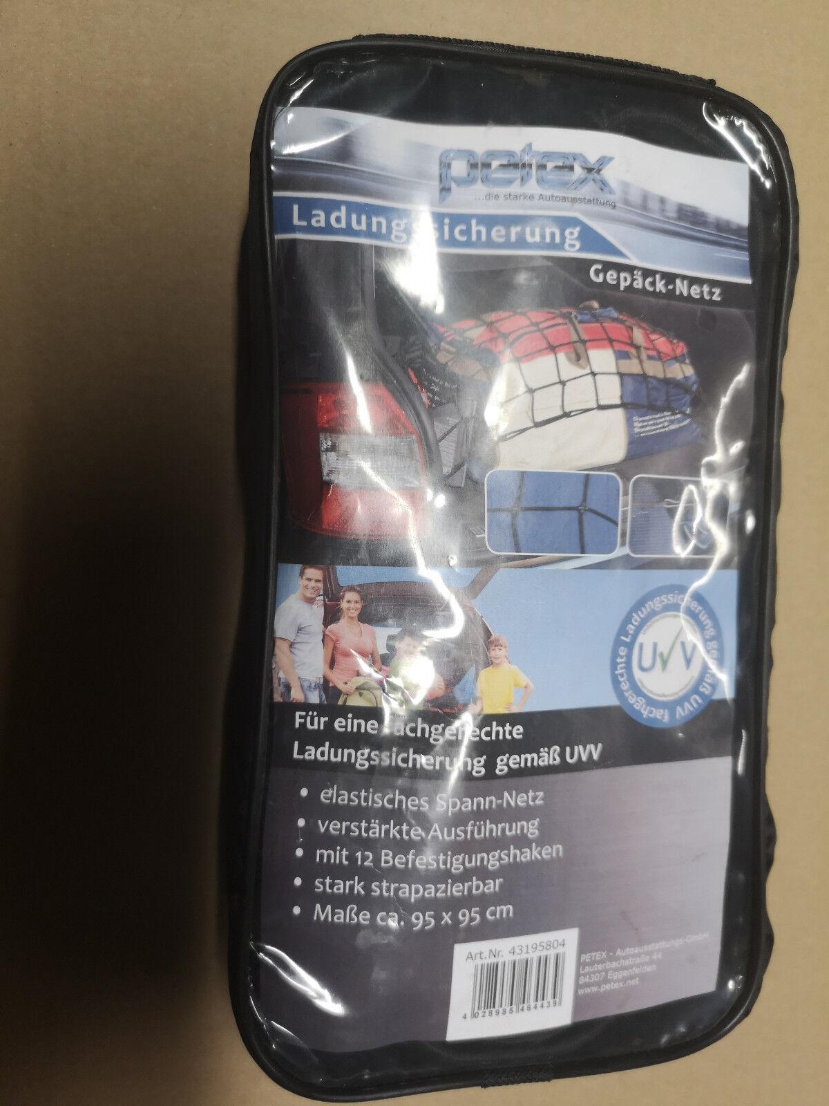 Petex Gepäck-Netz Ladungssicherung 95 x 95 cm Kofferraumnetz Transportnetz