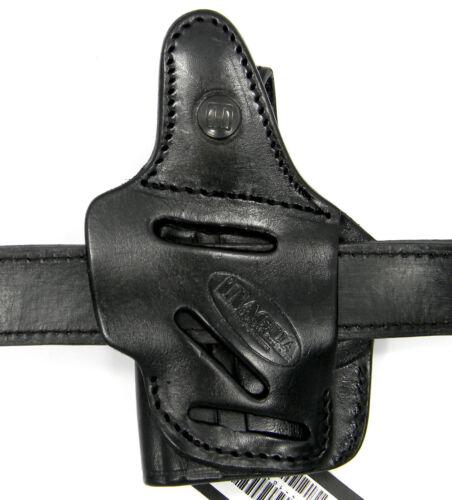 TAGUA PREMIUM BLACK LEATHER 4 in 1 OWB IWB SOB THUMB BREAK HOLSTER for GLOCK 42