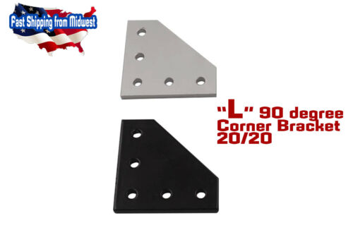 2Pcs Silver 90° Plate Bracket for 2020 Aluminum Extrusion