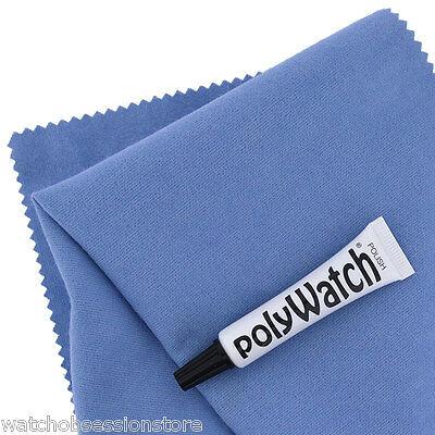 POLYWATCH & CLOTH kit Vintage Watch Plastic/ Acrylic Glass Scratch Remover - 5ml