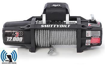 X2O 12K GEN2 Wireless remote Winch Smittybilt 12,000 lb Winch waterproof 97512