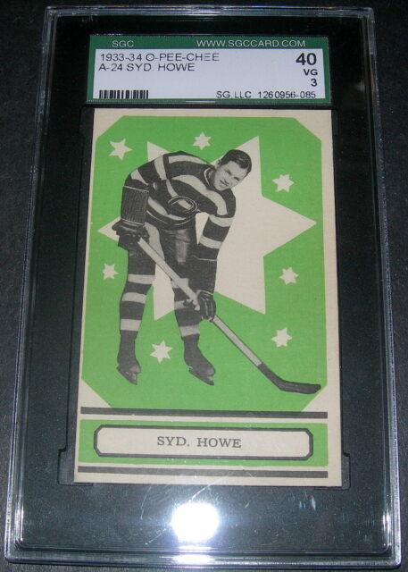 1933-34 SYD HOWE #24 ROOKIE OPC ** SGC VG 3 RARE V304A HOF Hockey Card BV$350.