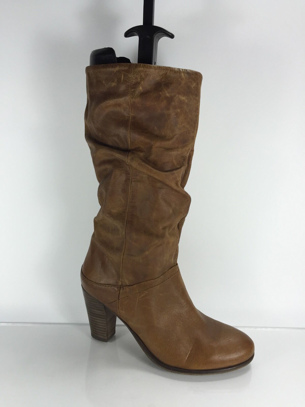 Steve Madden Womens Brown Leather Knee Boots 9.5