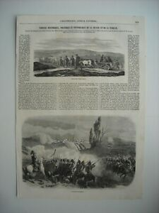 100% De Qualité Gravure 1854. Convoi De Troupes Russes. Bataille D'oltenitza.