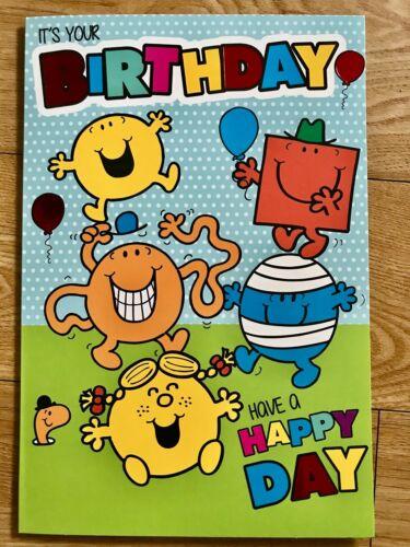 Inc Envelope Mr Men /& Little Miss Birthday Card