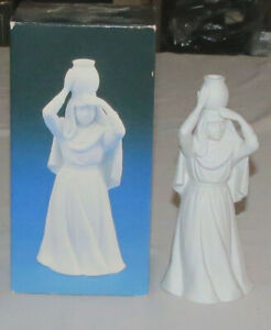 Avon Nativity White Bisque Woman with Water Jar 1990 with Box
