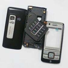 Fascia Cubierta Protectora Original, Chasis Y Teclado Para Nokia 6280 Negro/Plata