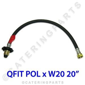 PACK OF 4 x LPG HOSES POL x W20 900mm PIGTAIL GAS PIPE PROPANE BOTTLE CONNECTOR