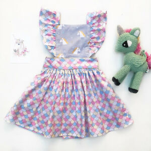 46a16cd4bf86e New Unicorn Newborn Infant Toddler Baby Girl Prom Party Princess ...