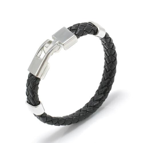 Women Men Multilayer PU Leather Handmade Cuff Wristband Anchor Bracelet Bangle