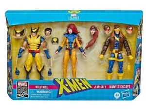 Marvel-Legends-X-Men-3-Pack-Cyclops-Jean-Grey-amp-Wolverine-Action-Figure