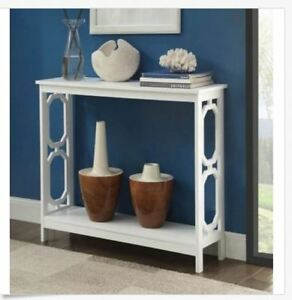 Details About Console Sofa Table Entryway Accent Wood White Hall Display Living Room Modern