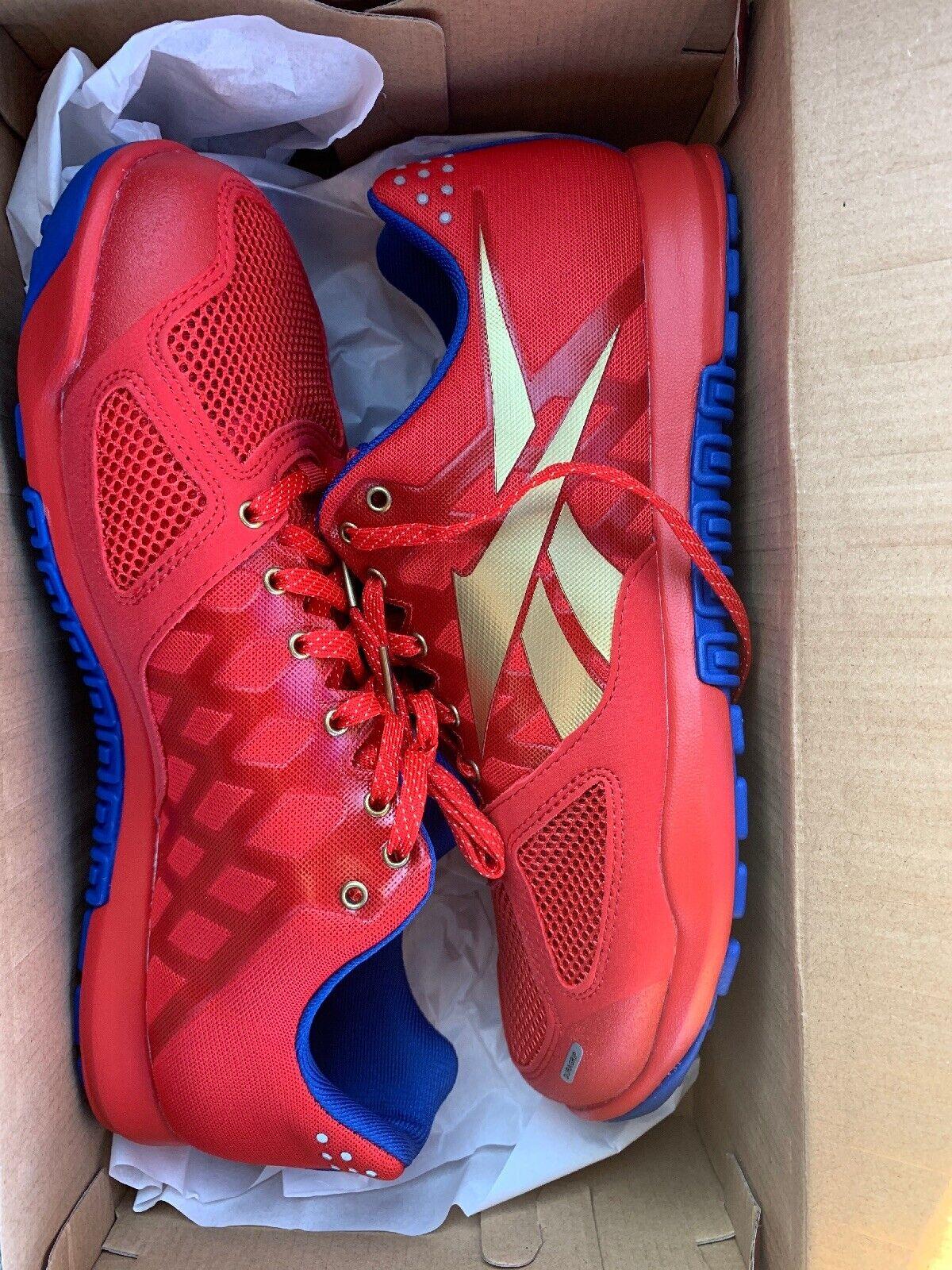 Nuevo REEBOK R CROSSFIT NANO 2.0 para hombres zapatos de entrenamiento (DV5758) Rojo Cobalto 10.5