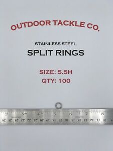 SIZE-5-5-HEAVY-DUTY-5-5H-Stainless-Steel-Split-Rings-100-Count-MADE-IN-USA