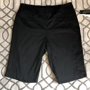 NWT Counterparts Women's Black Shorts Sz 10 Flat Front Zip